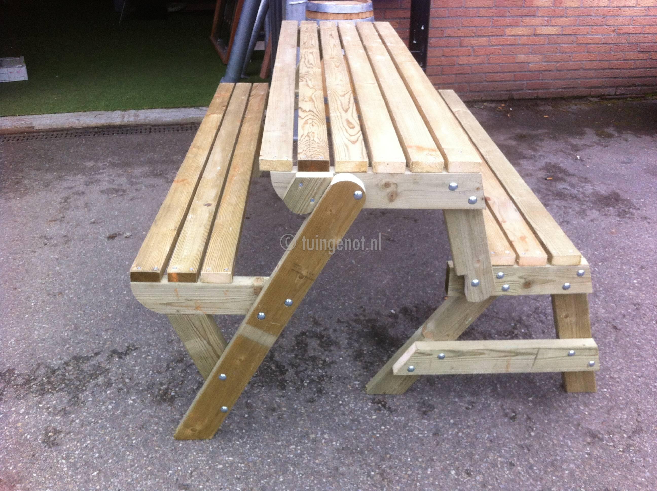 Tuingenot  95 multifunctionele ombouwbare picknicktafel