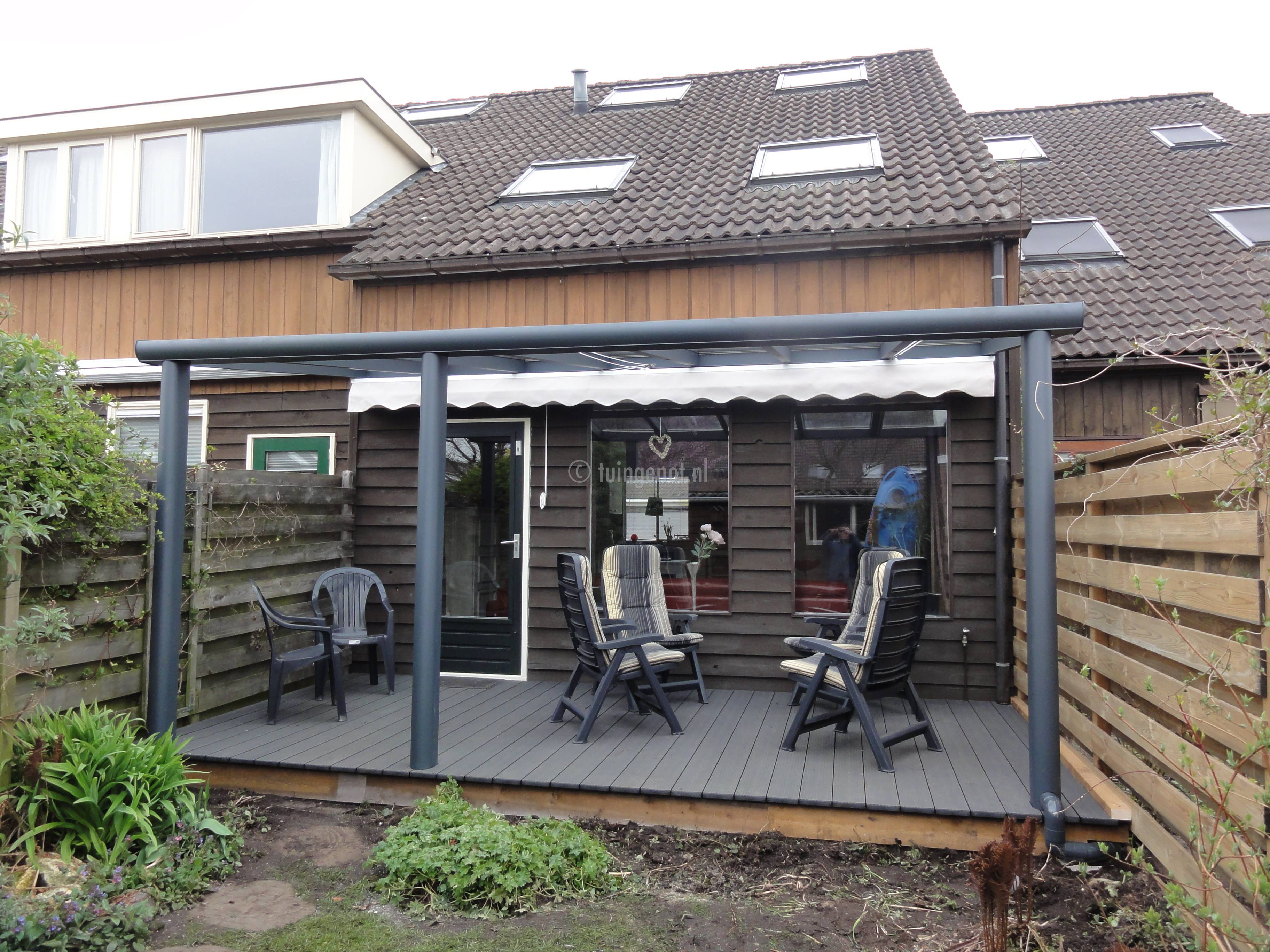 tuingenot aluminium veranda overkapping zelfbouw met polycarbonaatplaten of glazen dak systeem. Black Bedroom Furniture Sets. Home Design Ideas